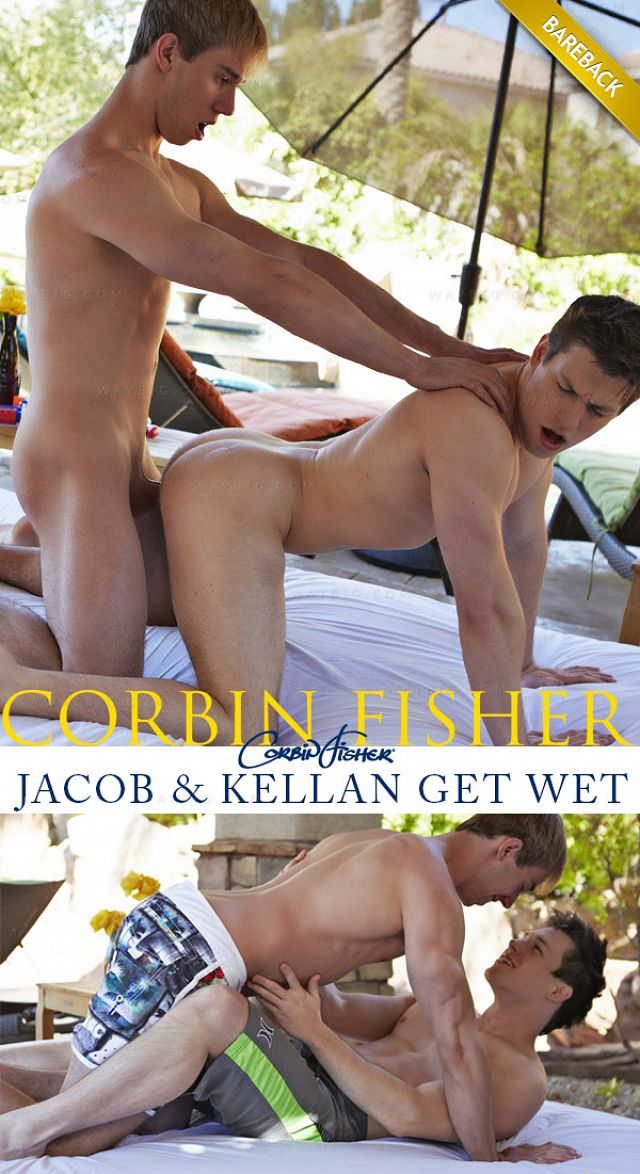 CorbinFisher – Jacob & Kellan Get Wet (Bareback)